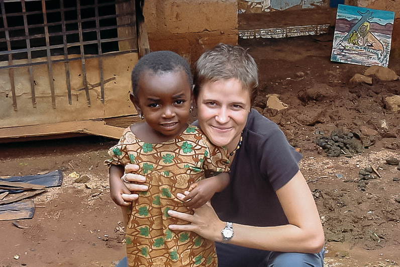 Marie-Pierre with young Cameroonian girl