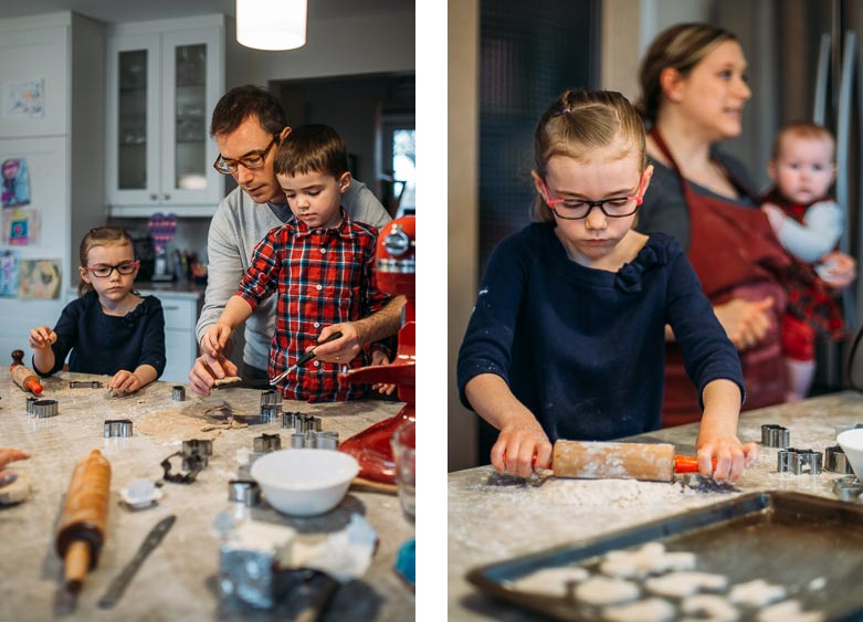 Baking Christmas cookies with the kids
