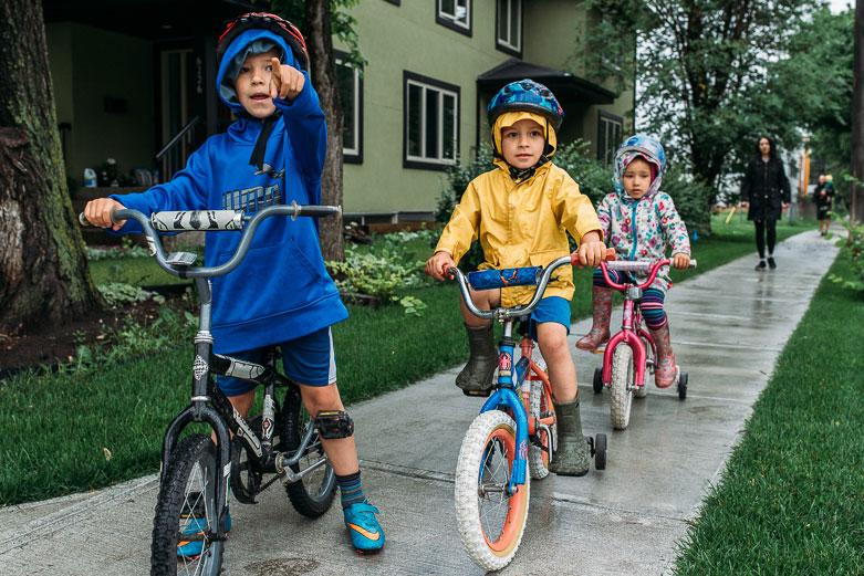 Kids on their bikes