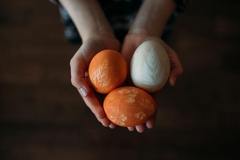 Easter eggs in kid's hands