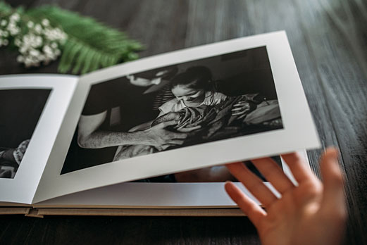 Storytelling photo book